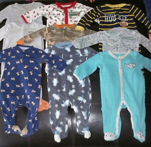 9 Pieces Baby Boy 6 9 Months Sleeper Pajama Clothes Lot Ebay