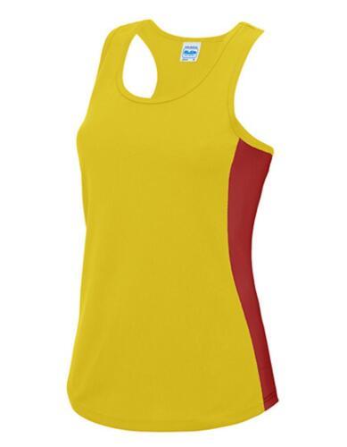 Damen Cool Contrast Tank Top Sport T-Shirt WRAP zert.Just Cool