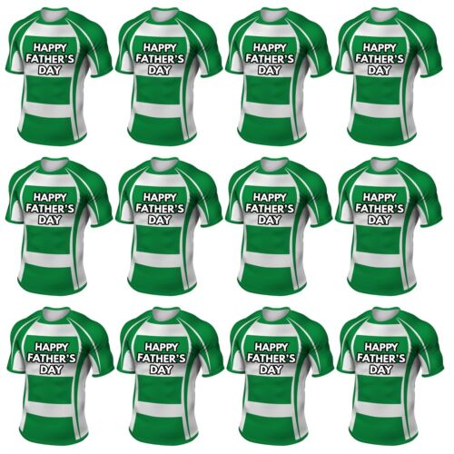 Precut Rugby Shirt Pères Day Cup Cake Toppers Décorations Benetton Couleurs