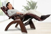 Pc-610 Human Touch Zero Gravity Perfect Chair Recliner Walnut + Memory Foam Kit
