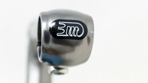 """NOS 3TTT STATUS QUILL STEM 115mm 1/"""" INCH CLAMP 25,8mm 90s VINTAGE TITANIUM GREY"""