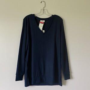 Medium-NWT-LUCKY-BRAND-Womans-Blue-Super-Soft-Tunic-Top