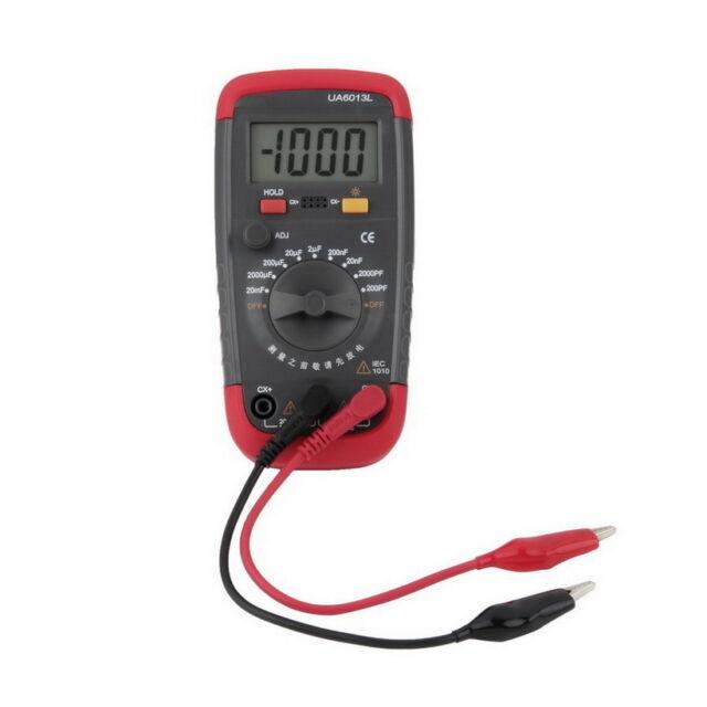 UA6013L Auto Range Digital LCD Capacitor Capacitance Test Tester Meter NEW Q9