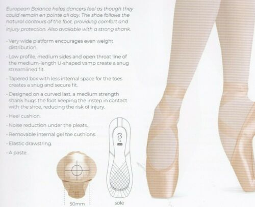 Bloch Pointe Shoes S0180L /& S0180S ESO150L/&160L /& 160S ribbon//elastic included