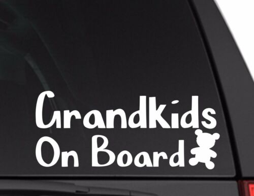 Baby on Board Grandkids Car Decal for Mom and Dad LOTS of Colors