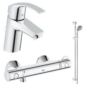 Favorit Grohe Grohtherm 800 Thermostat Dusch Set + Eurosmart Waschtisch EA02
