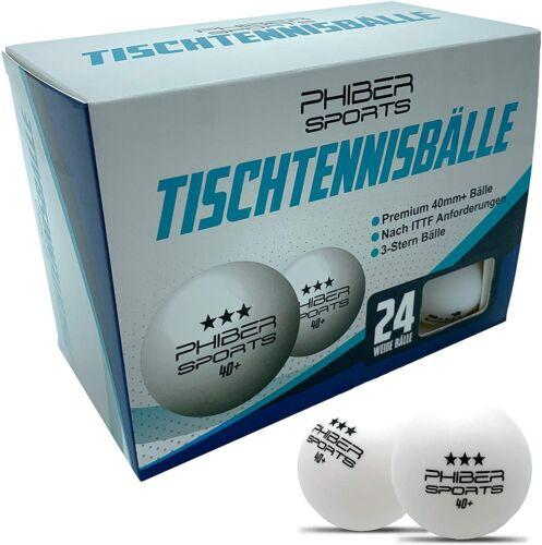24 Stück Premium Tischtennisbälle 3 Stern – Perfekte Spieleigenschaften