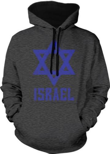 State of Israel Star of David Magen Israeli Pride Hebrew 2-tone Hoodie Pullover