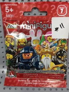 New Out of Package COMPUTER PROGRAMMER GEEK LEGO 8831 Series 7 Minifigure