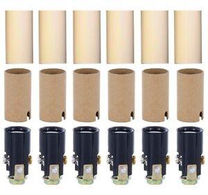 Lustre éclairage luminaire Socket KIT avec 1 3/4 Pouces bougie couvre-Pack de 6