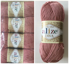 100% Microfiber Yarn Knitting Crochet Alize Diva Silky Effect 4 skeins 400g/14oz