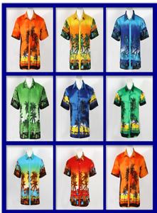New-LARGE-SIZE-Men-Aloha-Shirt-Cruise-Tropical-Luau-Beach-Hawaiian-Party-Summer