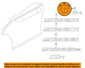 BMW-OEM-03-16-Z4-Front-Bumper-Emblem-Badge-Nameplate-51147044207
