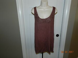 239df7bd016a9 Image is loading Maurices-2x-Plus-Size-Tank-Top-Studded-burgundy-