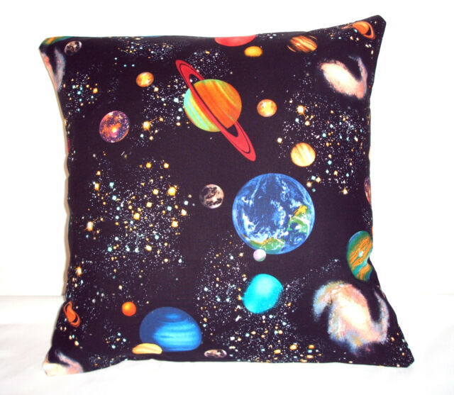 BRAND NEW BRIGHT SOLAR SYSTEM PLANETS  CUSHION COVER 16''x16''