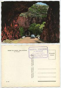 46954-Gorges-de-Daluis-Les-Tunnels-Echtfoto-koloriert-alte-Ansichtskarte