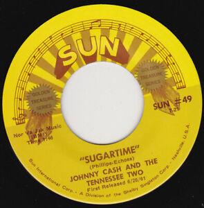 """JOHNNY CASH - Sugartime 7"""" 45"""
