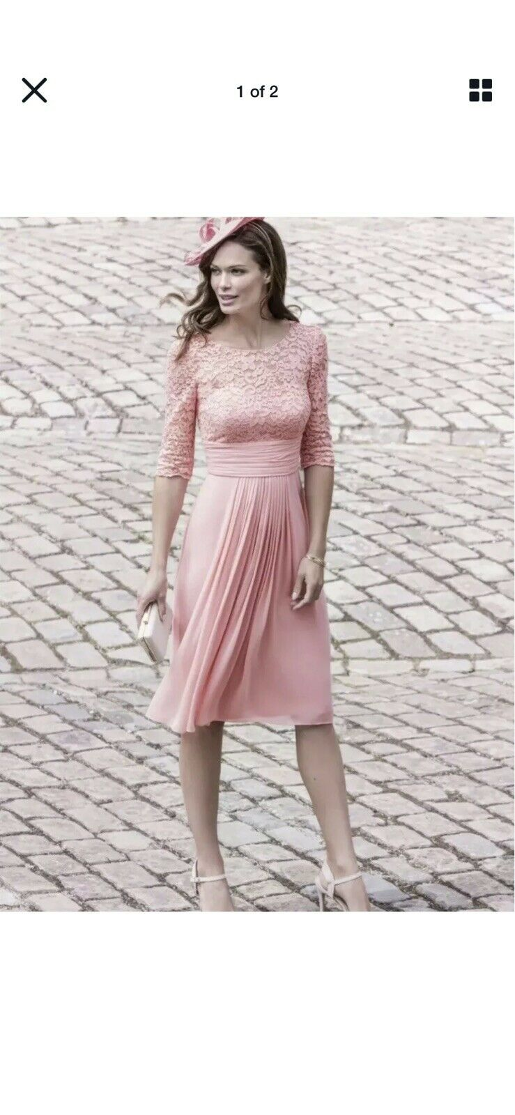 John Charles Pink Lacey Dress Gorgeous Outfit Wedding,Races,Party UK 10 BNWT