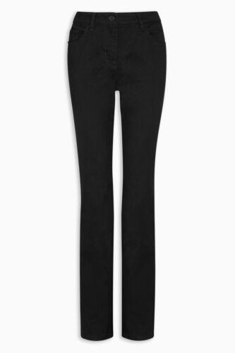 """Women/'s Nero Jeans Slim Fit Jeans Denim tutti i giorni-orlo larghezza 5/"""""""