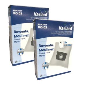 10 Staubsaugerbeutel Variant geeignet für Rowenta RO 6441 EA SILENCE FORCE