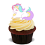 15x Licorne Premium Comestible stand up Riz Gaufre Cup Cake Toppers Fée D4