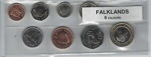 Utile Falkland Série De 8 Pièces De Monnaie