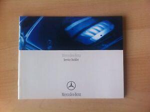 Mercedes Service Book Not Duplicate All Models Geunuine All Models