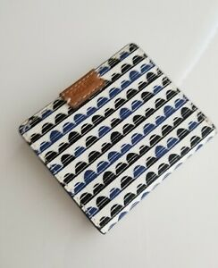 FOSSIL-NWT-SL7196469-Emma-Mini-Wallet-BLUE-PRINT-Coin-Wallet-Bifold