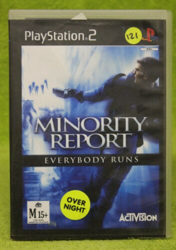 1 of 1 - MINORITY REPORT PS2 😎AUSSIE SELLER😎 (PLAYSTATION) EX-RENTAL GAME~FAST POST !!!