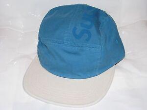 Supreme 2 Tone Twill Top Panel Camp Hat Cap Bright Royal