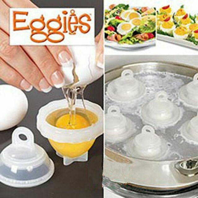 EGGIES  HARD BOILED EGG COOKER W/ 6 COOKERS & BONUS EGG SEPARATOR NIB