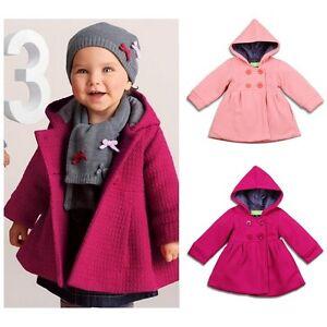 Baby Girls Kids Cotton Blend Hoodie Coat Hoody Winter Warm Kid Jacket Outwear T5