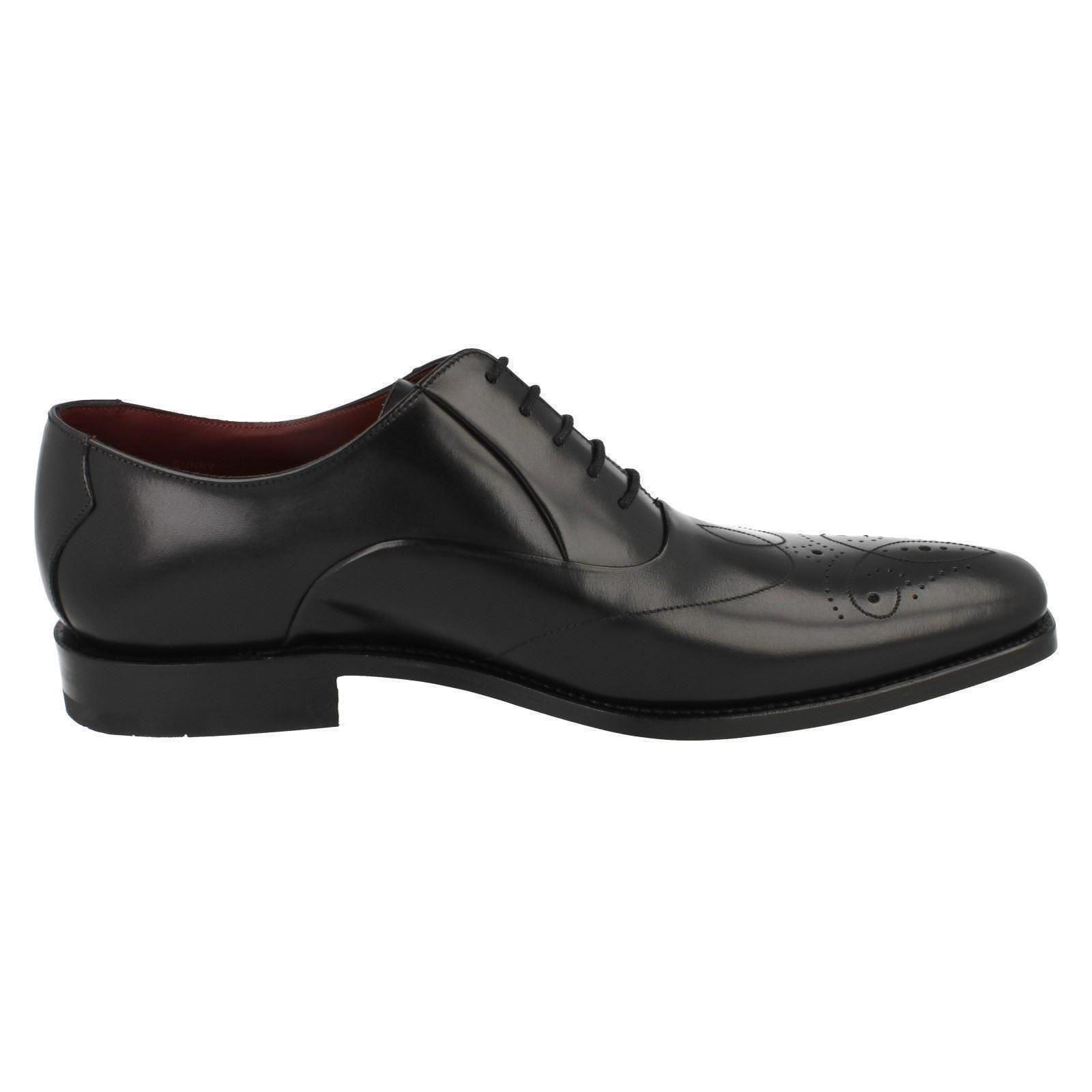 Herren geschnürte Rupfen F Fassung schwarze geschnürte Herren Leder Schuhe von Loake 81f1b2