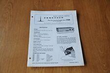 Ferguson 3124 Auto Twin Transistor Portable Radio Vintage Service Manual