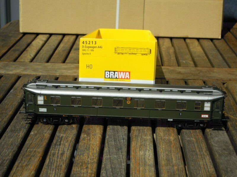 Brawa 45213 Express Train Wagon av första klass Heavy Steel Wagon DRG Ep.2 nytt, Rrp