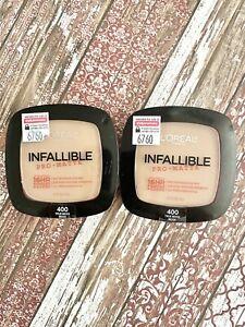 Loreal Paris Infallible Pro-matte Powder Face 400 True Beige 0.31oz Lot of 2 NEW