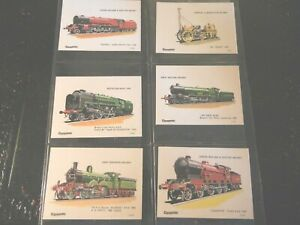 1976 TRAINS RAILWAY Caramac Rountree  Locomotive complete trade card set 42