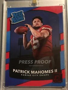 2017 donruss patrick mahomes Rated Rookie Press Proof Red Rookie Card Mint 💎🔥