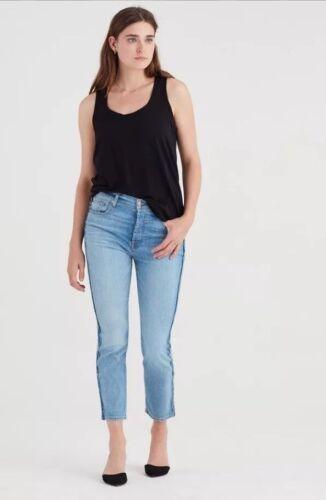 Size 7 Womens Seam Jeans High Light Josefina 28 For Mankind Waist Frayed All OHnIn1r