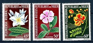 Niger-MiNr-91-93-postfrisch-MNH-Blumen-Z2246