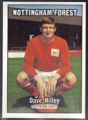 A/&BC-FOOTBALL 1970-#014- NOTTINGHAM FOREST ORANGE BACK 001-085 DAVE HILLEY