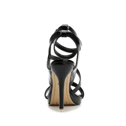 Details about  /Black Drag Queen Sandals Strappy Mens Heels Crossdresser Cut Out Women Shoes