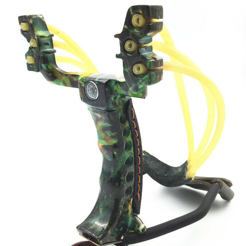 Aluminium Alloy Powerful Shot Slingshot Bow Catapult Outdoor Hunting Camouflage