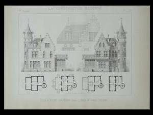 Nogent Sur Marne, Villa - 1892 - Planche Architecture - Tardif Delorme