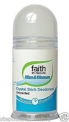 Faith In Nature Roll On Crystal Stick Deodorant Unscented For Men & Women