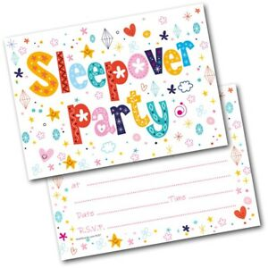 Image Is Loading Sleepover Birthday Party Invitations Invite Pack Of 20