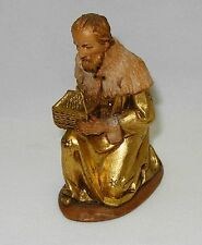 "VINTAGE ANRI KUOLT NATIVITY KNEELING KING 6"" SET"