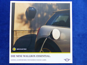 Mini Cooper SE - Wallbox Essential Ladestation - Prospekt Brochure 02.2020