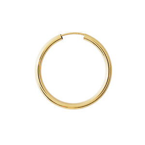 Single-1Stueck-Creole-585-echt-Gold-Ohrring-Herren-Maenner-Damen-30mm-OK58