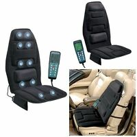 Massage Seat Topper Cushion With Heat For Car Massager Chair Lumbar Back Support